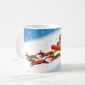 caneca do Natal do dachshund