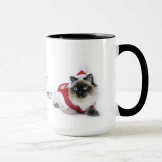 Caneca do Natal do gato de Ragdoll