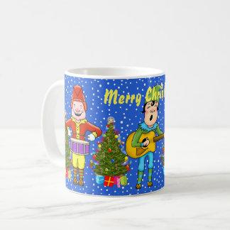 Caneca do Natal dos duendes do músico