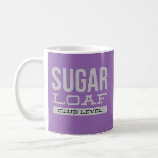 Caneca do nível do clube do naco de açúcar