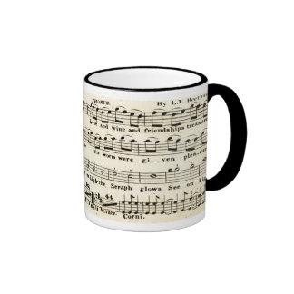 Caneca do no. 9 da sinfonia de Beethoven