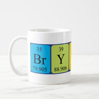 Caneca do nome da mesa periódica de Bryson