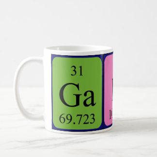 Caneca do nome da mesa periódica de Gabi