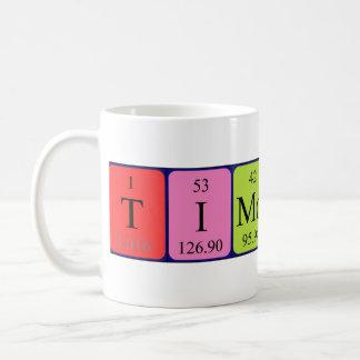 Caneca do nome da mesa periódica de Timothy