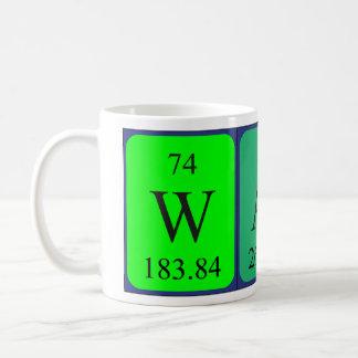 Caneca do nome da mesa periódica de Walt