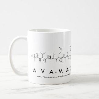 Caneca do nome do peptide de Ava-Mae