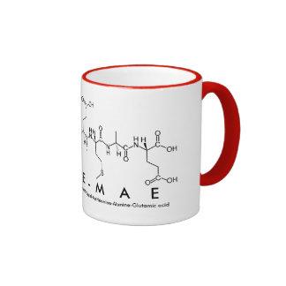 Caneca do nome do peptide de Evie-Mae