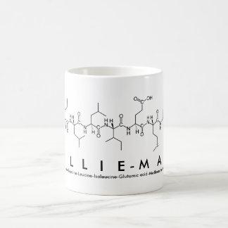 Caneca do nome do peptide de Lillie-Mae