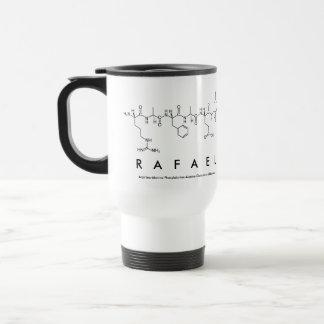 Caneca do nome do peptide de Rafael
