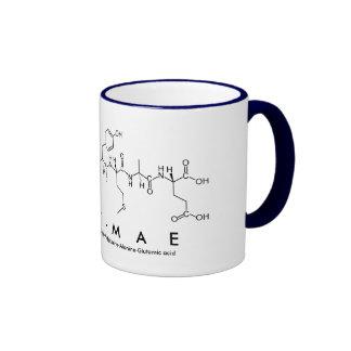 Caneca do nome do peptide do Lírio-Mae