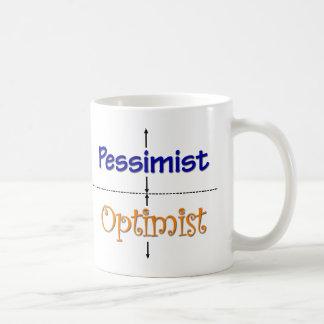 Caneca do Optimista-Pessimista