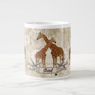 Caneca do pai dos girafas caneca de café muito grande
