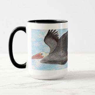 Caneca do pelicano de Brown
