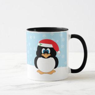 Caneca do pinguim do Natal