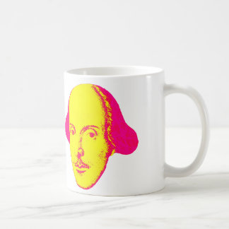 Caneca do pop art de William Shakespeare