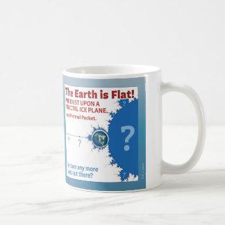 Caneca do poster do plano do gelo do Fractal