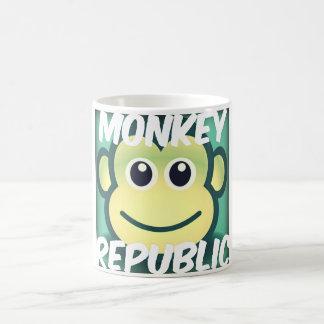 Caneca do princípio da república do macaco