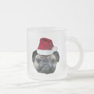 Caneca do pug do Natal