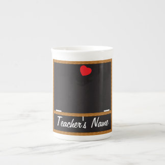 Caneca do quadro do professor - texto de DIY
