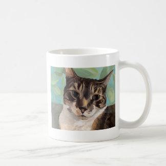 caneca do retrato da arte do gato do Chita-gato