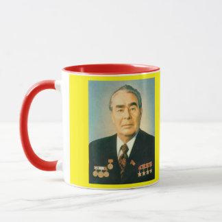 Caneca do retrato de Brezhnev*