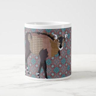 Caneca do roxo da arte de Nilgi Canecas De Café Muito Grande