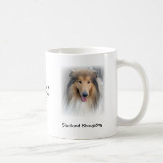 Caneca do Sheepdog de Shetland - com imagens e um