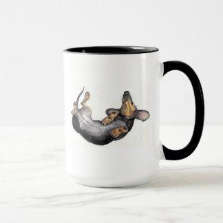 caneca do sono do dachshund