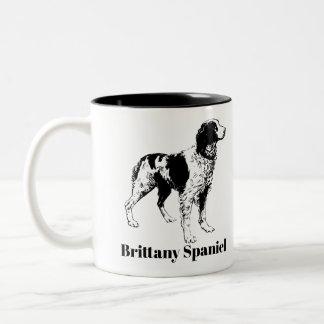 Caneca do Spaniel de Brittany