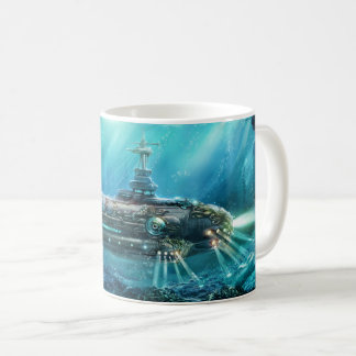 Caneca do submarino de Steampunk