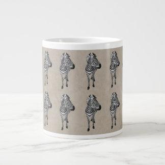 Caneca do teste padrão da zebra do vintage jumbo mug