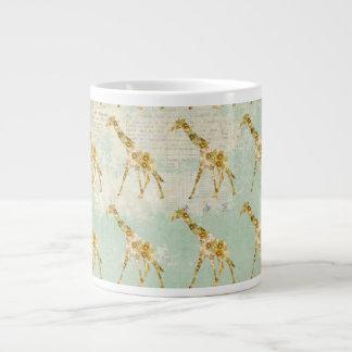 Caneca do teste padrão do girafa jumbo mug