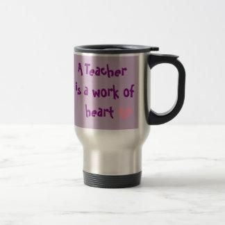 Caneca do Thermal do coração do professor