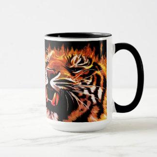 Caneca do tigre do poder de fogo