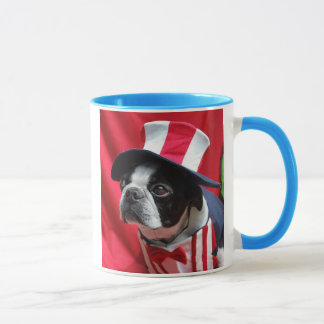 Caneca do tio Sam de Boston Terrier