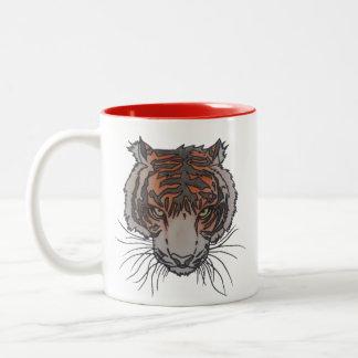 Caneca do tom do logotipo 2 do tigre de RixTatt