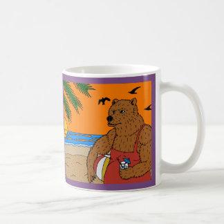 Caneca do urso da praia