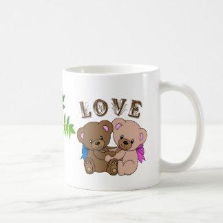 Caneca do urso do amor