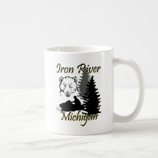 Caneca do urso do Snowmobile de Michigan do rio do