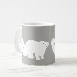 Caneca do urso polar cinzenta & branco pelo design