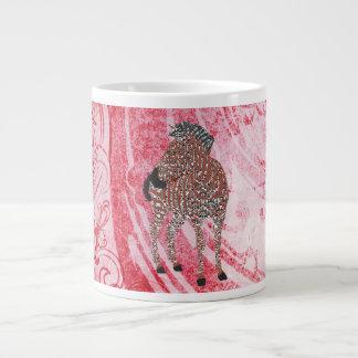 Caneca do vermelho da arte de Zenya Jumbo Mug