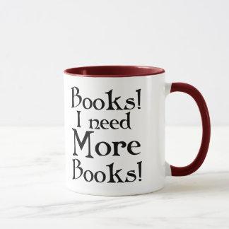 Caneca do viciado do livro engraçado