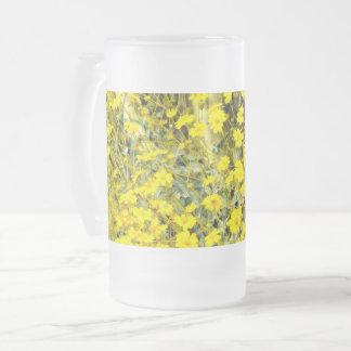 """caneca do vidro de fosco 16oz em """"Wildflowers """""""