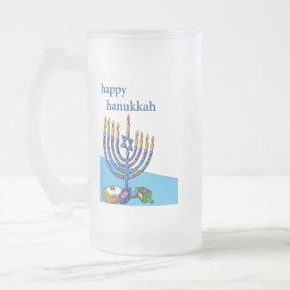 Caneca do vidro de fosco, Hanukkah feliz