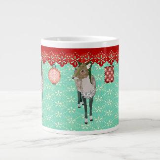 Caneca do vintage dos cervos do jade jumbo mug