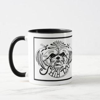 Caneca Doodle do cão de Shih Tzu