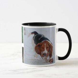 Caneca dos cães de Basset
