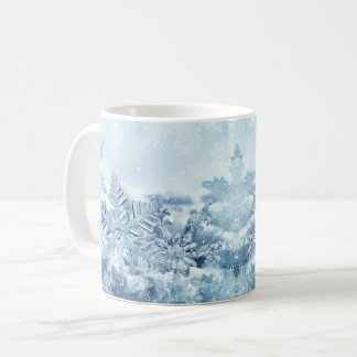 Caneca dos cristais do floco de neve