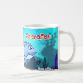 Caneca dos desenhos animados do golfinho do