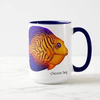 Caneca dos peixes de Chevron Tang do recife de